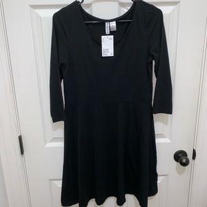 H&M Black Jersey Skater Dress